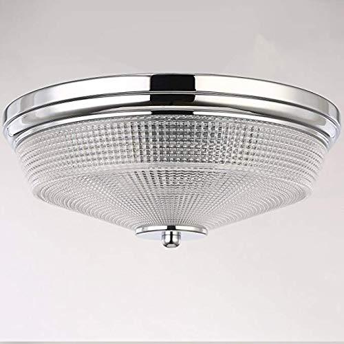 LLQ N3 Beleuchtung 34CM 2-Lights E27 Moderne Flush Mount Deckenleuchten, Glas Runde Decke Leuchte Moderne Wohnzimmer Schlafzimmer Flur Kronleuchter -