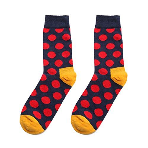 Zoylink 1 Paar Neuheit Socken Rohr Socken Mode LäSsig Mix Farben Punkte Muster Baumwolle Socken Crew Socken FüR MäNner Jungen (Jungen Anzügen In Kleine)