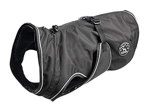 HUNTER Uppsala  Hundemantel, wasserabweisend, winddicht, Fleecefutter, reflektierend, 65, schwarz
