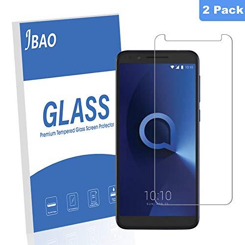 [2 Stück] Jbao Panzerglas für Alcatel 3L ,9H Schutzfolie Härtegrad Transparent Gehärtetem Glas Folie Ultra-Dünne 2.5D [Anti-Schock ] Bildschirmschutzfolie [Anti-Kratz] [Anti Fingerabdruck]