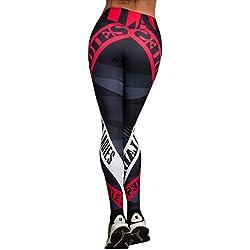 LILICAT Leggings Deportivos Elásticos y Transpirables para Mujer, Leggings de Fitnes Yoga Deportes de Alta Cintura, Pantalones Deportivos (Rojo, S)