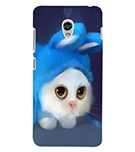 ColourCraft Cute Cat Design Back Case Cover for LENOVO VIBE P1