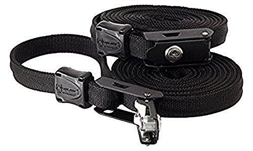 LSO 601001DTC Light Speed Outdoor abschließbar Tie Down Security Lock Zurrgurt mit Stahlkern, 10'H, schwarz, 2Stück