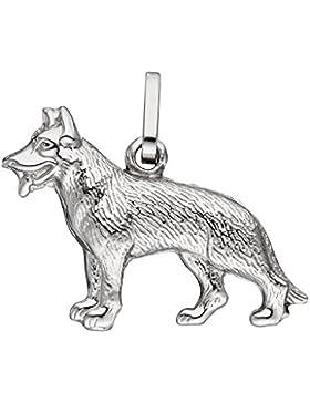 925 Sterling Silber Anhänger - Schäferhund - B 21,30 mm - H 14,50 mm - T 4,70 mm
