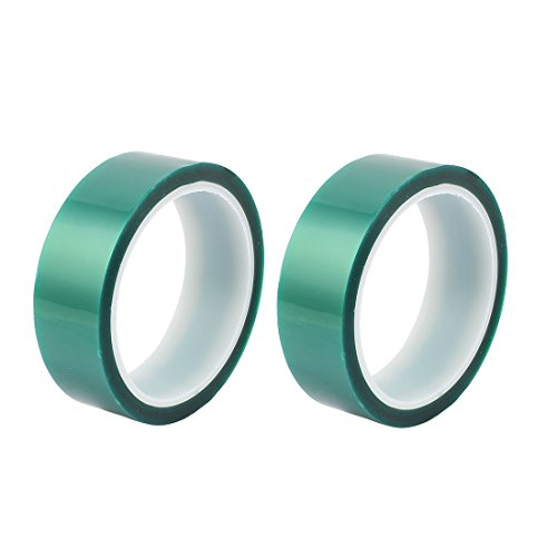 sourcingmap-2pcs-30mm-width-33m-long-green-pet-high-temperature-heat-resistant-pcb-solder-tape