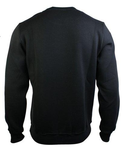 Sweatshirt homme pull gris rouge noir style urbain Noir