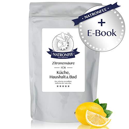 Zitronensäure in Lebensmittelqualität E330 - wasserlösliches Pulver - 500 g in wiederverschließbarem Beutel - Natürlicher Entkalker der Natronfee -