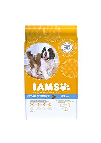 Iams Puppy Large Breed trockenfutter (con Borsa in Pollo, per cucciolo Grande razze, include borsa (Iams Large Breed Puppy)