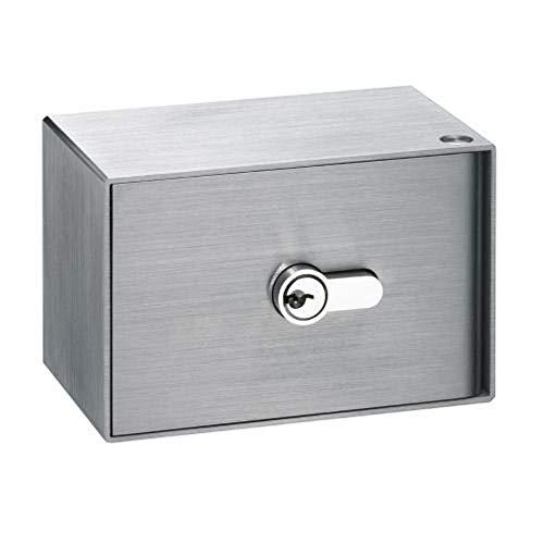 Kruse SchlüsselDepot K3 - für Aufputz- und Unterputz-Montage geeignet - komplett aus Edelstahl - vorgerichtet für Halbzylinder