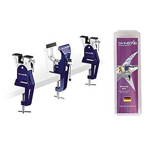 SkinStar Skiwax Set mit Racing Ski Vise Skispanner Universal Wachs 250g