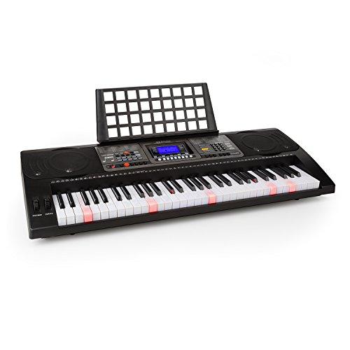 Schubert Etude 450 USB • Keyboard • Lern-Keyboard • 61 Tasten • Leuchttasten • Anschlagdynamik • Aufnahme-Funktion • Playback-Funktion • AUX • USB-MIDI • 65 Demo-Songs • 32 Speicherplätze • schwarz