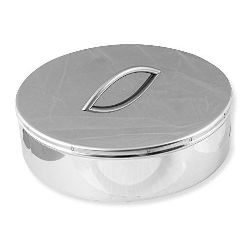 Ampel 24 Der Trampolinspezialist Schachtdeckel für Wäscheabwurfschacht | Edelstahl hochglanz | Ø 300 mm | Höhe 82 mm