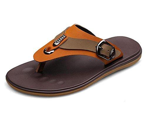 shixr-hommes-cuir-pantoufles-summer-flip-flops-cuir-chaussons-de-plage-open-back-sandales-yellow-39