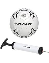 Dunlop Fútbol con bomba de fútbol, blanco con negro, 5, 871125299059