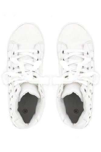 Baskets ornées de clous brillants Blanc