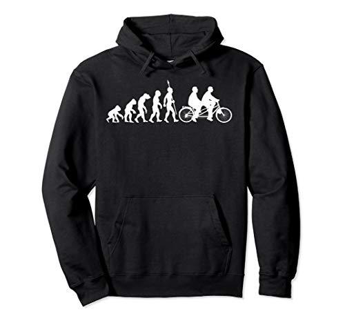 Tandem Fahrrad Evolution Biker Radfahrer Radfahren Fun Sport Pullover Hoodie
