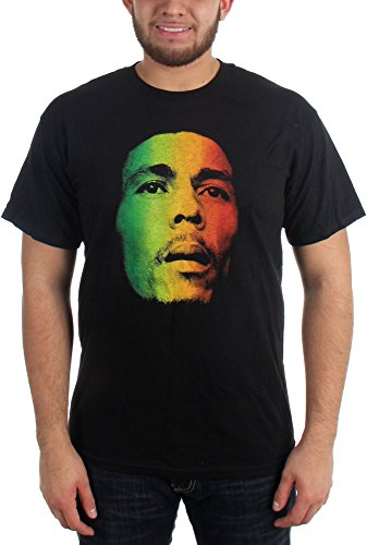 Bob Marley - Face Erwachsene T-Shirt in Schwarz, Small, Black (Marley-face-t-shirt Bob)