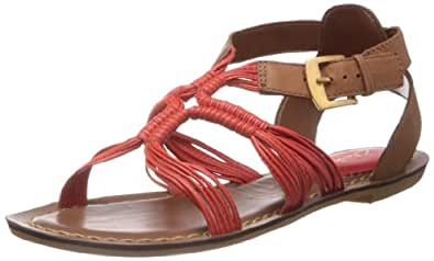 Clarks Women's Surf Savvy Coral Leather Fashion Sandals - 5 UK