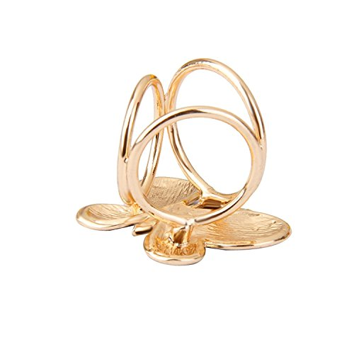 Ring Gelber Schmetterling (PRIMI Fashion Damen-Schmetterling Muster Schal Ring Clip (gelb))
