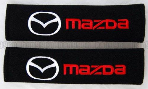 Mazda Auto Sicherheitsgurt Bezüge Schulterpolster Schwarz