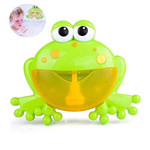 CWeep Machine Frog Bubble Machine for Kids Tub Bubble Maker Wall Bubble Machine with 24 Music Song-with Sucker Stick on Wall for Baby Shower
