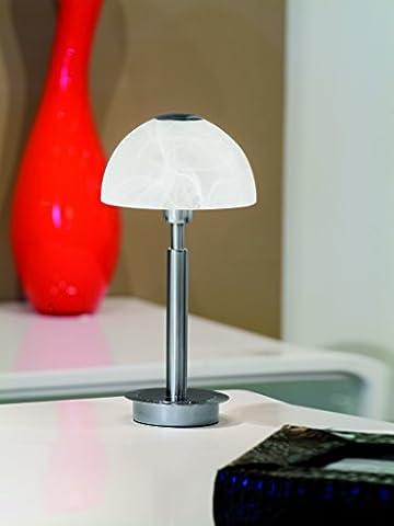 Paul Neuhaus LED Tischleuchte mit 3 Stufen-Touchdimmer in Edelstahl 1 x 3W LED 245lm/3000K (1 Tischleuchte)