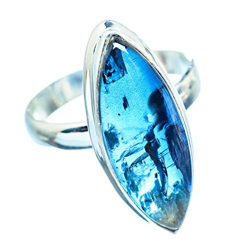 Kyanite, Kyanit 925 Sterling Silber Ring 9