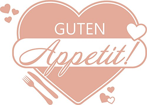 Graz Design Wandtattoo für Küche | Wand-Spruch Guten Appetit | Küchen-Tattoos für Deine Küchen-Wände und Schränke (70x50cm // 958 baby doll)