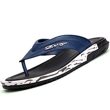 Slippers & amp da uomo;Comfort PU Estate Outdoor piatto tacco sandali blu neri sandali US8.5-9 / EU41 / UK7.5-8 / CN42