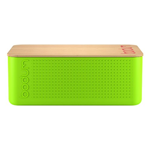 Bodum: Bistro Bread Box/Bin with Bamboo Lid in Lime Green