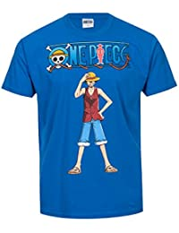 T-shirt One Piece Monkey D. Luffy bleu