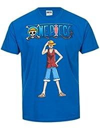 T-shirt One Piece Monkey D. Luffy bleu