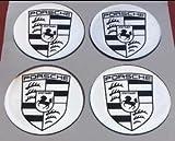 Porsche ★4 Stück Aufkleber Emblem Felgen Nabendeckel Radkappen 65mm