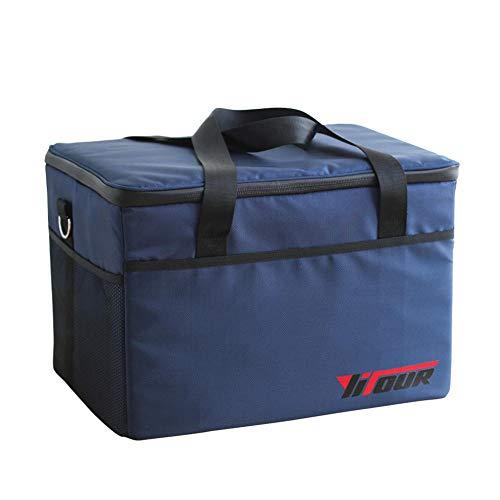 Ying-feirt Outdoor Reise Eisbeutel Oxford Tuch Aluminiumfolie Picknicktasche Große Kapazität 47L@47L (Tote 31 Kühler)