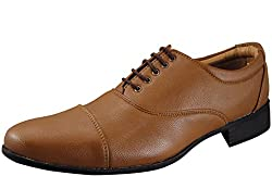 Action Synergy Mens Formal Shoes Tan UNS4505