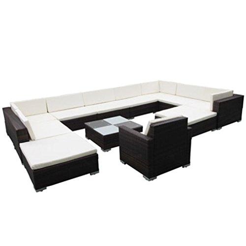 vidaXL Gartenmöbel Poly Rattan Lounge Set günstig