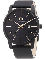 Danish Design - 3314433 - Montre Homme - Quartz Analogique - Bracelet Cuir Noir