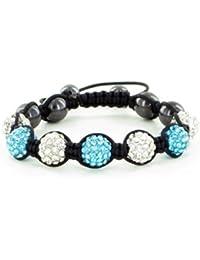 DISPONIBLE EN 20 COULEURS - Bracelet Shamballa Unisexe - Cristal ,Boule Disco - Réglable 15cm - 25cm