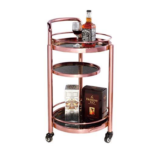 HQQ Regal für Wände Rack - Hotel Restaurant Delivery Car Doppelweinwagen Tee Wasser Truck Snack Car Kuchen Auto Mobile Cart (Farbe : C, größe : 42x42x81cm)