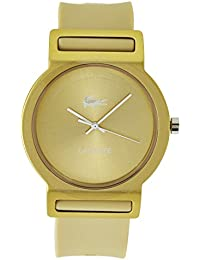 Lacoste Tokyo Womens Fashion Watch Gold Tone Dial Silicon Strap 2020082