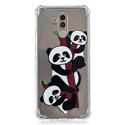 Cozy Hut Huawei Mate 20 Lite Hülle, Huawei Mate 20 Lite Silikon Schutzhülle Ultra Dünn Weiche Stoßfest Rutschfest TPU Bumper Backcover Case für Huawei Mate 20 Lite - DREI kleine Pandas