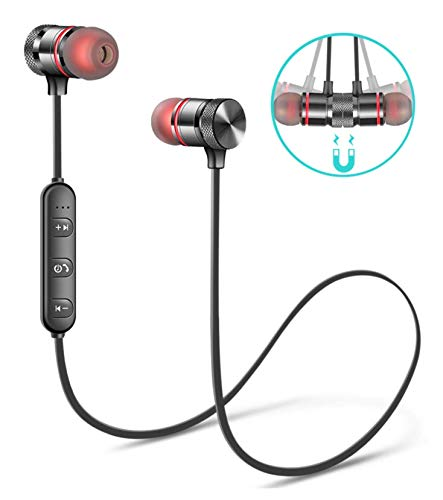 TS Mi Note 5 Pro, Redmi 6 Pro, Redmi 6A, Redmi Y2, Mi A2, Redmi 5, Redmi 4, Mi A1, Y2, Y3 Mi Note 7 Pro Wireless Bluetooth Headphones, Headset with Mic & Volume Button Earphone for Mi Note 5 Pro