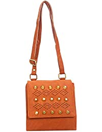 DCenterprises Women's Handbag/Shoulder Bag/Sling Bag Material- Synthetic Leather Color Copper