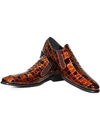 3b319ee6 Modello Tabev - Cuero Italiano Hecho A Mano Hombre Piel Color Marrón  Zapatos Vestir Oxfords -