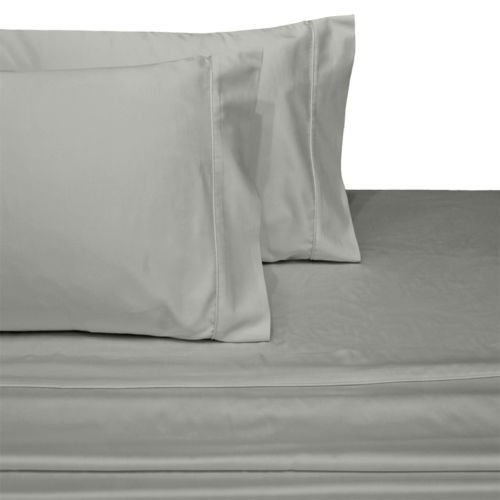 100% Pure Cotton Solid Light Grey Double Size 4 Piece Complete Bed Sheet Set 800 Thread Count Sateen Weave – Natural, Soft, 35 Cm Deep Pocket Quality Luxury Bedding By MahendraSales