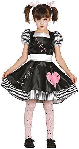 Ragazze assassino bambola di pezza halloween film tv libro spaventosa carino carnevale costume vestito 5-12 anni - 7-9 years