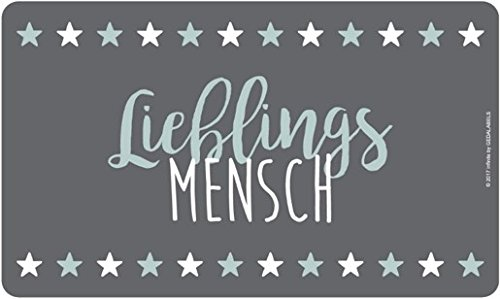 infinite by GEDA LABELS (INFKH) 12513 Melaminbrettchen Lieblingsmensch, 2017 Frühstücksbrett, Melamin, Grau, 23, 5 x 14 x 0.5 cm