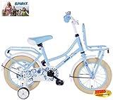 Zonix Mädchen Hollandrad Pastell-Blau 12 Zoll mit Frontträger