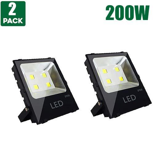 LED Flood Light Outdoor Spotlight High Buchtlicht Wall Light Super Bright Safety Light – IP66 Waterproof,26000Lumens, AC 220-240 V, Cool white, 200W