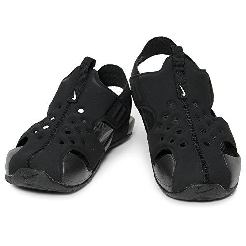 Nike Sandalias Sunray Protect 2 (PS) Negro/Blanco Talla: 28